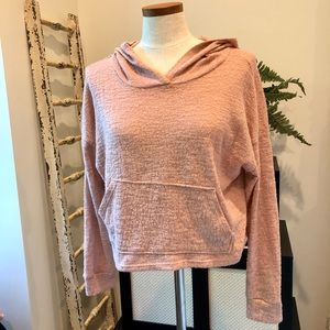 Forever 21 Pink Cropped Hoodie
